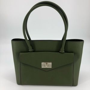 Kate Spade Halsey Post Street Olive Green Tote Bag